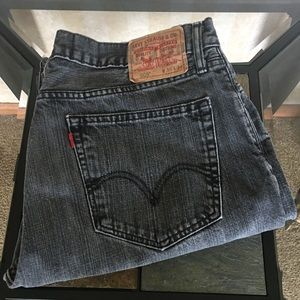 Levi's Faded Black Jeans